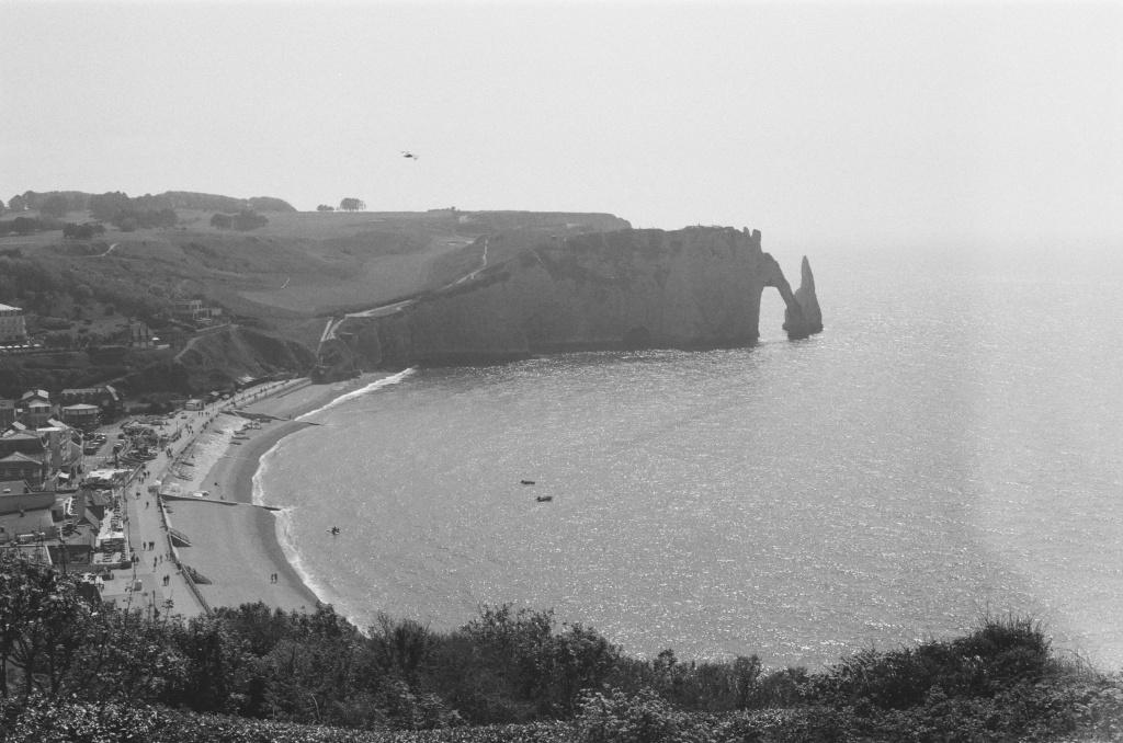 etretat vu de la falaise