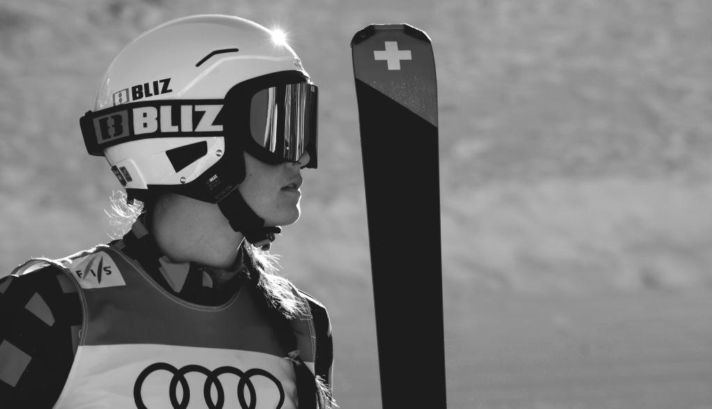 Marielle Thompson à val thorens pour la coupe du monde de ski cross en 2016
