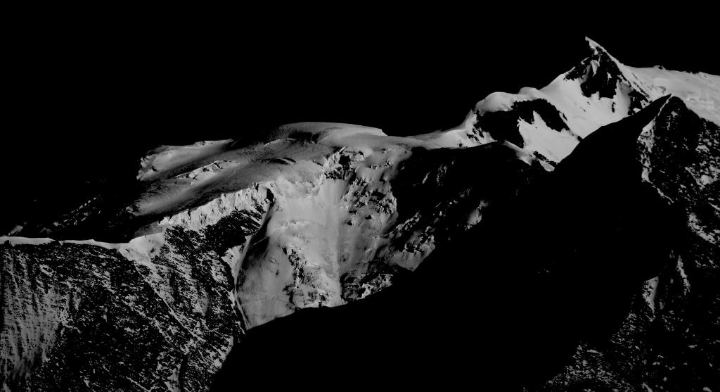 Mont-blanc vu depuis Megève haute-savoie montagne neige
