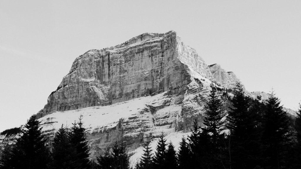 Mont-Granier à chambéry savoie montagne neige
